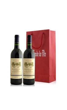 法国 波多拉菲干红葡萄酒双支礼袋装