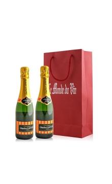 法国 拉菲特酿香槟天然型375ML双支礼袋装
