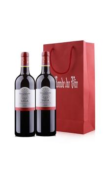 拉菲传说波尔多红葡萄酒双支礼袋装