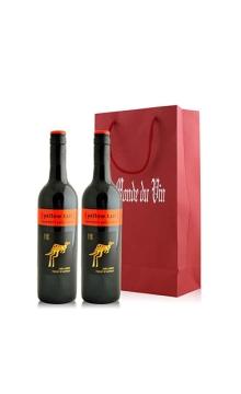 黄尾袋鼠加本力苏维翁红葡萄酒双支礼袋装