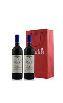 轩诺斯玛雅窖藏干红葡萄酒双支礼袋