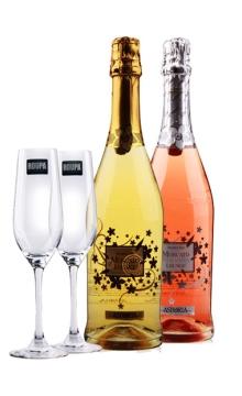 阿斯托利亚姐妹花送罗派香槟杯