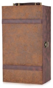 双支暗古花纹皮盒