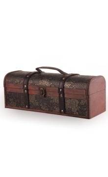 单支仿古盒卧式红酒包装木质酒盒