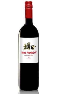 三只猴子半干红葡萄酒