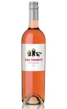 三只猴子桃红葡萄酒(半干型)