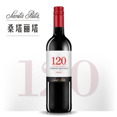 桑塔丽塔120加本力苏维翁红葡萄酒 375ML(小瓶装)